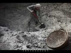 The Clinker Man (Shabbir Ferdous) Tags: red portrait people man photographer shot labor cement bangladesh ef2470mmf28lusm clinker bangladeshi silverchrome canoneos5dmarkii shabbirferdous wwwshabbirferdouscom shabbirferdouscom