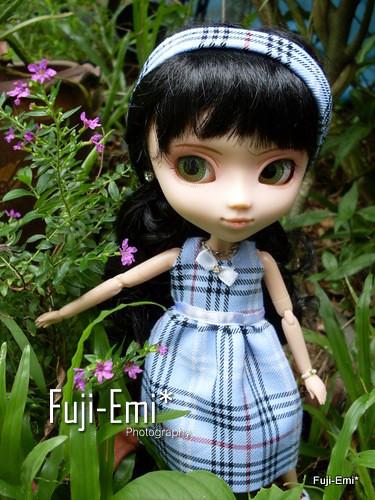 little gal in garden