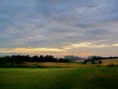 MORNING OUT MY BACK DOOR (lewsviews) Tags: morning autumn trees usa fall nature field clouds yard america sunrise virginia corn farm country culpeper morn sepetember