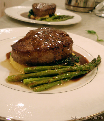 Filet with Zinfandel Reduction