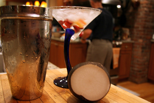 radish cranberry martini