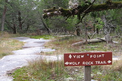 Trail junction near Wolf Rock