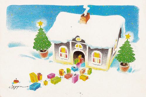 Finland Christmas postcard