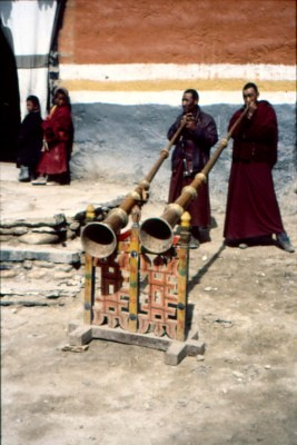 Geling duo in Lo Manthang