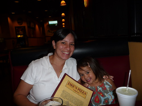 ava and nicole at jake's pizza