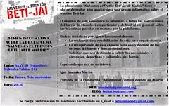 Invitación Beti-Jai AAVV