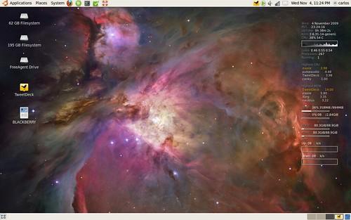 """Ubuntu 9.10 """"Karmic Koala"""" Desktop: 11.5.09"""