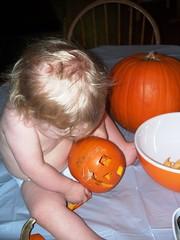 Pumpkin Inspector (Ludeman99) Tags: halloween2009 eowynlouisebitner