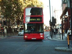 VP1 on route 185 (Ledlon89) Tags: bus london victoria embankment metrobus londontransport arriva bluetriangle londongeneral travellondon