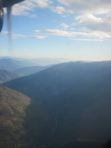 View from the flight from Lukla to Kathmandu