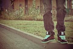 (octamarin visualz) Tags: old shoes diesel alt sneakers retro hose jeans kicks werbung levis schuhe