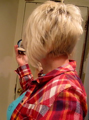The G Bob (apple_something) Tags: haircut neck blonde nape backofmyhead gbob graduatedbob bathroomportrait veryshorthair momswithcoolhair