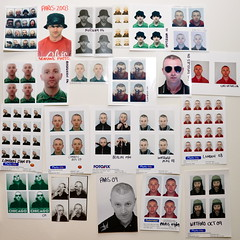 AGE / self / passport photobooth 2002-2009 (walnutwax photography) Tags: portrait bw chicago newyork paris colour berlin london hat amsterdam norway self beard la losangeles photobooth foto lasvegas camden aberdeen age amelie passport watford ellon stuartmitchell