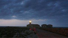 Punta Nati Lighthouse Twilight (Sir Francis Canker Photography ) Tags: trip travel light sea vacation panorama espaa mer moon lighthouse seascape art tourism lune landscape faro islands mar nice twilight spain mediterranean mediterraneo mare artistic dusk unique gorgeous dramatic visit icon tourist luna punta vista nocturna farol nati visiting espagne far phare rare 2009 icono menorca leuchtturm spagna baleares minorca lucena iles balearic canarie morska  arenzano isole denizfeneri majk  latarnia  brusasco sirfranciscankerjones   fenerkulesi   pacocabezalopez