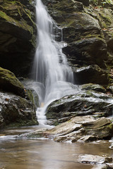Window Falls (David Hopkins Photography) Tags: wet creek fun waterfall nc moss rocks stream northcarolina cascade secluded hangingrockstatepark windowfalls stokescounty davidhopkinsphotography