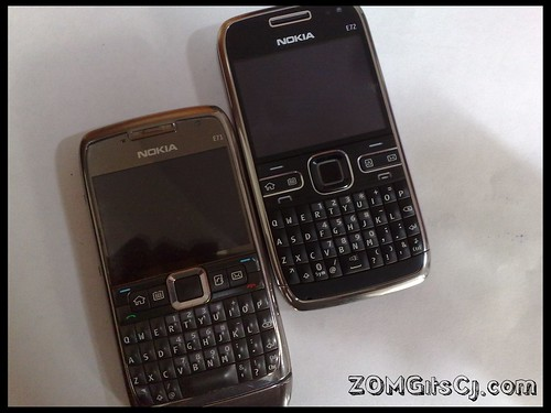 Nokia E72 vs Nokia E71 : Size Comparison Pictures – UnleashThePhones