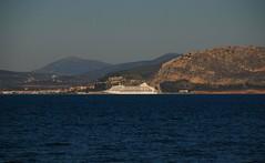 Cruise ship at Nafplio (DSLEWIS) Tags: church greece greekorthodox peloponnese kefalari zoodochos churchofthelifegivingspring