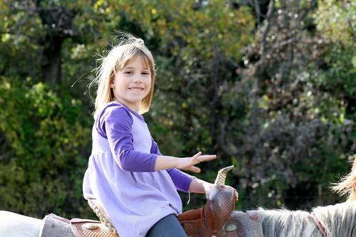 Cassie on horse 2