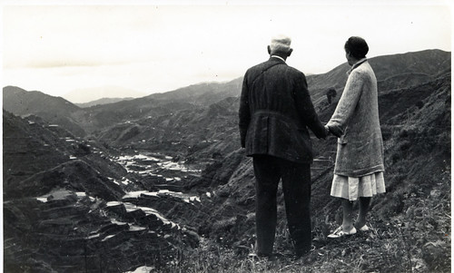 Marian and David Fairchild overlooking the terraces of Banaue