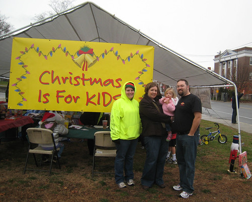 At the Achin's Garage Toy Drive