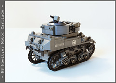 m8_2_05 (Captain Eugene) Tags: lego wwii m8 motorcarriage howitzer lighttank legotank brickmania