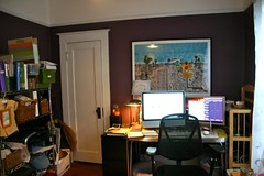 Outgrowing my office space: before