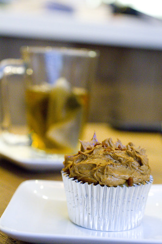 Vietnamese Coffee Cupcake and tea