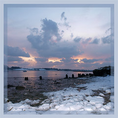 River Deben - Solstice Sunrise (barrycross) Tags: winter snow sunrise river suffolk graphic riverdeben kysonpoint barrycross easternlightphotography barrycrossphotography wwwbarrycrossphotographycom