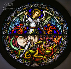 St. Michael (*Jeff*) Tags: church window saint angel michael catholic dragon stainedglass northdakota demon archangel draco