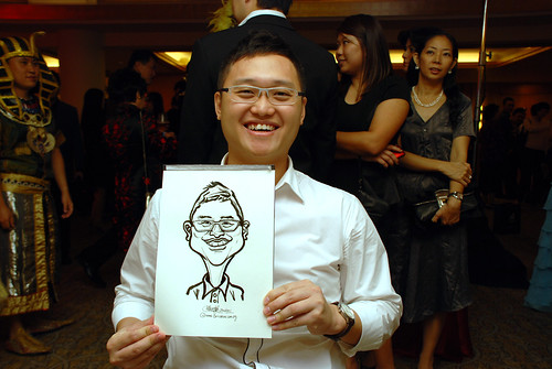 caricature live sketching for Great Eastern Achievers Nite 2011 - 7