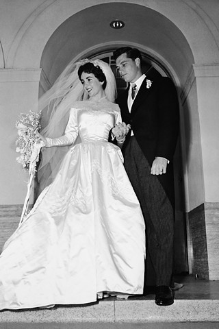 Helen Rose, Elizabeth Taylor, Nicky Hilton, 1950's bride, vintage wedding