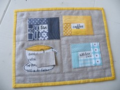 Finally ... (monaw2008) Tags: cup water coffee quilt tea handmade linen swap patchwork applique zakka mugrug monaw monaw2008