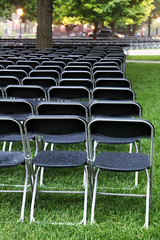 audience chairs aisle rows universityofchicago convocation foldingchairs