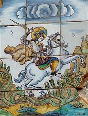 Sant Jordi a Cervell (PCB75) Tags: catalonia catalunya catalana drac cavall catalogna catalogne santjordi baixllobregat espasa cervell rajola plaf guivernau