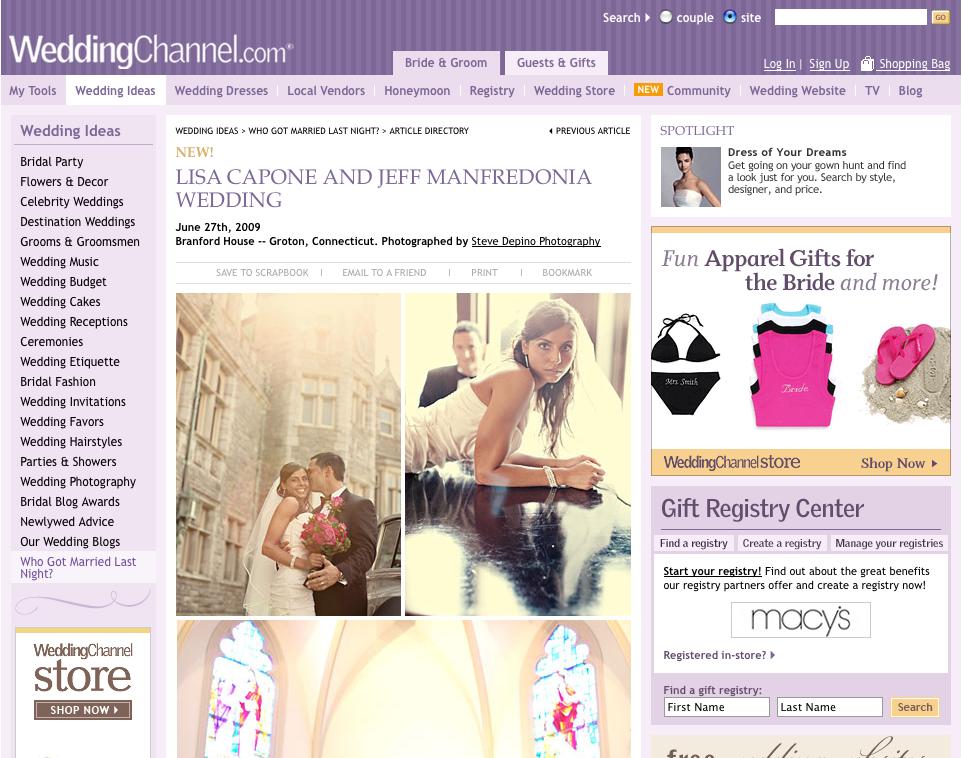 Workin It On The Weddingchannel Website The Newport Wedding
