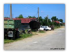 Cu iahtul in fata casei (cod_gabriel) Tags: rural village yacht romania sat rumania roumanie comuna dobrudja scrapiron rumunsko romanya  romnia dobrogea  rumunia iaht smardan dobruja fiervechi smrdan comun