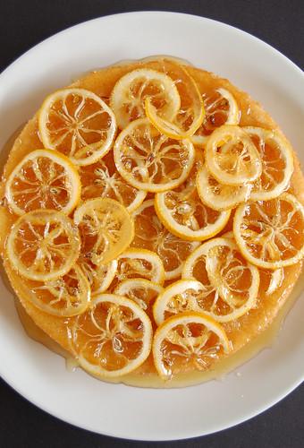 Candied lemon cake / Bolo com limão siciliano em calda
