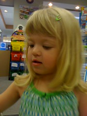Catie in the toy store