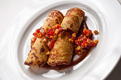 Chicken Mole in Sweet Corn Crepes