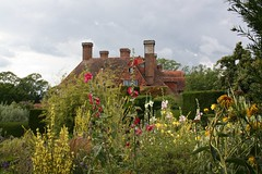 The house and hollyhocks (keepinsidethelines) Tags: great dixter