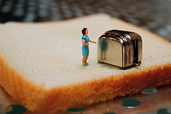 Large Order Of Toast (JD Hancock) Tags: favorite scale kitchen bread fun miniature interesting toaster little toast small sunday perspective explore cc tiny figure ho portfolio multicolored 1k hoscale nogeo littledudes inkitchen 7daysofshooting galleried jdhancock smallsunday week2kitchenessentials