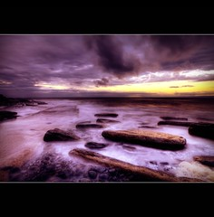 THE JETTY ~ DUNRAVEN BAY (Wiffsmiff23) Tags: longexposure sky mist beach southwales wales sunrise coast rocks waves jetty tide pebbles drama couds southerndown dunraven heritagecoastlinesouthwales