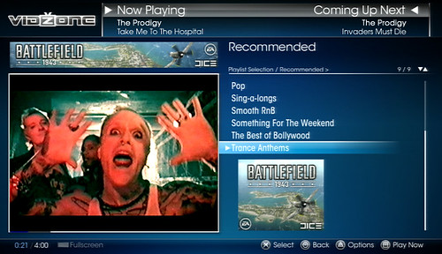 VidZone Playlists THE PRODIGY 1