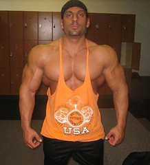 Armon Adibi 1 (bbwannab) Tags: man male big muscle muscular beefy ripped tanktop huge bodybuilder