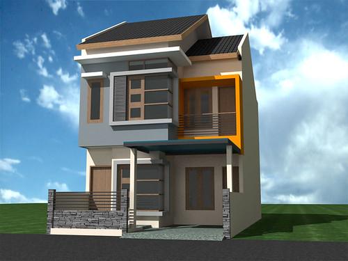 Renovasi Rumah Minimalis 2 Lantai di Cilangkap Cimanggis Depok, Luas ...
