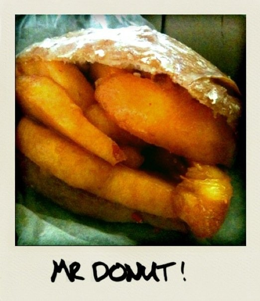 Peach donut from Mr Donut