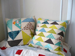 Patchwork Pillows by carryboo