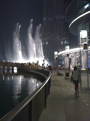 The world's largest fountain at night - Dubai (FS717) Tags: camera wallpaper fountain night dubai walk background 2009 iphone lakefountain      iphonewallpaper iphonecamera iphone3g  largestfountain