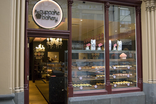 cupcake bakery shop front
