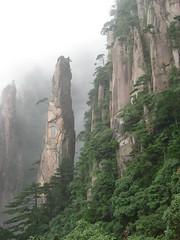 Climbing Up the Walls (yauhin1) Tags: china trees mountains fog radiohead huangshan